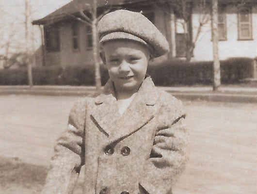Jackie Lodge as a young boy.